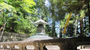 The shrine of Tokugawa Ieyasu at Nikko Toshogu shrine.  Ieyasu died on 17 April 1616 and in 1636, his grandson, Shogun Tokugawa Iemitsu (1604-51) rebuilt the shrine.  Today Nikko Toshogu Shrine is a World Heritage Site.